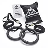 Black Mountain Products 1200lbs Rated Multi-Use Exercise Gymnastics Rings (Color: Black)