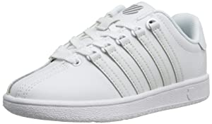 K-Swiss Classic Vintage PS Tennis Shoe (Little Kid),White/White,10.5 M US Little Kid