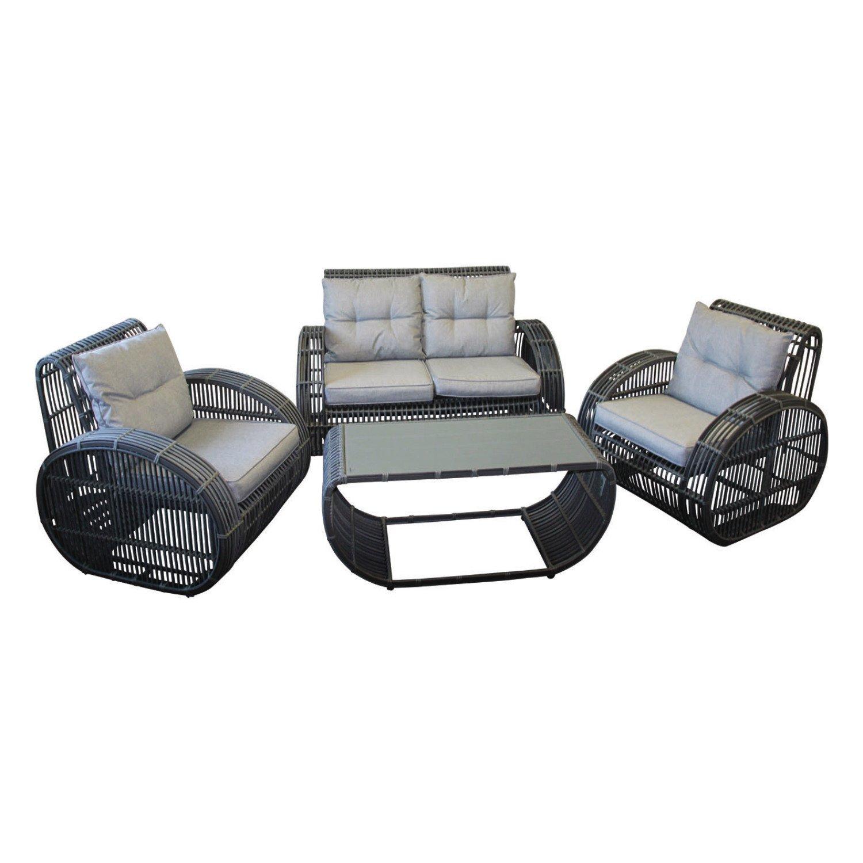 """Loungeset Gartengarnitur Rattanlounge """"Pamplona"""" 4 teiliges Rattan-Set kaufen"""