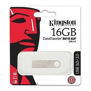 Kingston Digital 16 GB DataTraveler SE9 G2 USB 3.0 Flash Drive (DTSE9G2/16GB) (Color: DTSE9G2, Tamaño: 16GB)