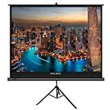 The First Projector Screen with Stand Green Environmental, OWLENZ Indoor and Outdoor Movie Screen 100 Inch Diagonal 4:3 with Premium Wrinkle-Free Design (Easy to Clean, 1.1 Gain, 160° Viewing Angle) (Color: Ps-v43-h100)