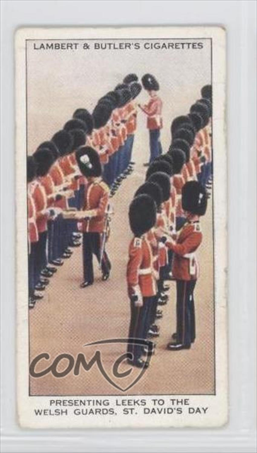 Trading Card: Presenting Leeks to Welsh Guards on St. David's Day