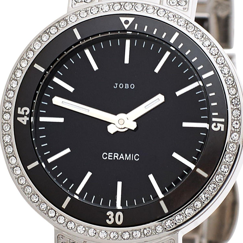 Damen-Armbanduhr Quarz Analog Edelstahl Keramik Kristall-Elements jetzt bestellen