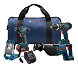 Bosch CLPK495-181 4-Tool 18-Volt Lithium Ion Cordless Combo Kit with Soft Case
