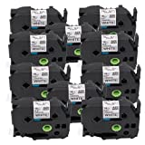 18mm Black on White TZe Tape Markurlife TZe241 TZ241 P-Touch Label Tapes Compatible for Brother PT-200 PT-D210 PTD400AD PT-H100 PTD600 PT-1010 PT-2030 Label Maker, 3/4 Inch x 26.2 ft (8m), 10 Pack (Color: 10-Pack TZe-241, Tamaño: 18mm / 0.7