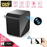 1080P WiFi Spy Camera, Hidden Camera, Mini Camera, Nanny Camera, USB Charger Camera with Motion Detection Loop Recording for Home and Office Security Surveillance (Color: hidden camera)