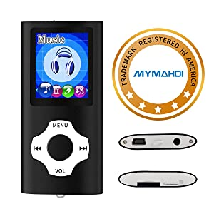 MYMAHDI Support TF Cards Slim 1.8 LCD Mp3 Mp4 Player Media/Music/Audio Player with accessories Black