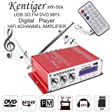 Car Audio High Power Amplifier FM Radio Player Support SD/USB / DVD / MP3 Input for Car or Motorcycle 4CH x 41W HI-FI