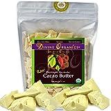 Divine Organics Raw Cacao Butter / Cocoa Butter - Certified Organic - Food Grade - Edible - Fragrant, Natural Skin Moisturizer (32 oz) (Tamaño: 32 oz)