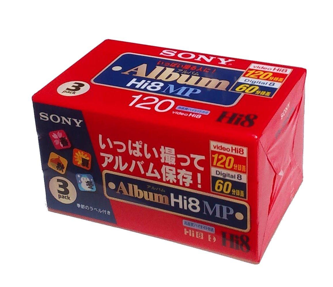 SONY 8MM 120 Minutes Cassette Tape 3 Pack sony mini dv cassettes dvc premium series 3 pack