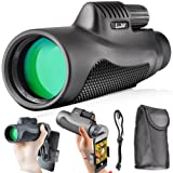 Landove Monoculars 10x42 Compact Monocular Spotting Scope HD Telescope Camping Hunting Traveling Sporting Events Bird Watching Smartphone Adapter Carrying Case
