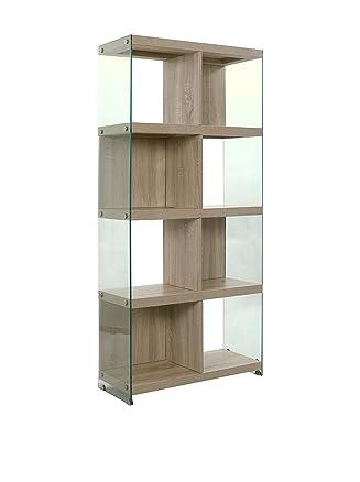 Wink design Libreria TREVISO, 8 Vani, Legno, Rovere, 71x30x159 cm
