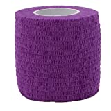 Feamos Self Adhesive Elastic Cohesive Bandage Gauze Wrap Waterproof 4.5m (Purple)