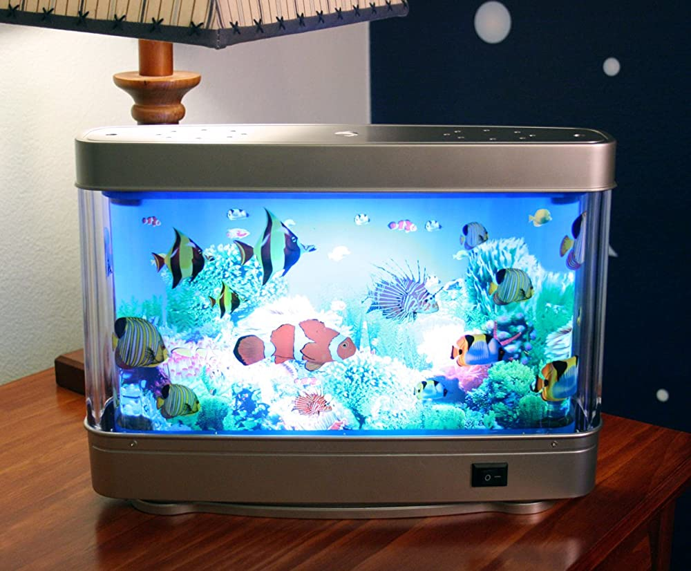 Aquarium lamp with fish ocean in motion revolving aquatic for Oceanic fish tanks