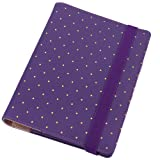 Polka Dot Notebook, A5 Personal Organizer,Spiral Notebook Binder,Harphia,Size 9 x 6.89'' (Color: Purple., Tamaño: A5 9 x 6.89'')