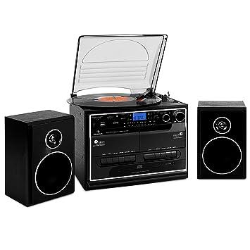 Lenco CD 200/lettore CD con display LCD con cuffie stereo cavo di ricarica USB nero BETTERIE e funzione di rete