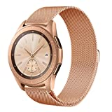 Aimtel Compatible Samsung Galaxy Watch (42mm) Bands,20mm Milanese Strap Replacement Band Compatible Samsung Galaxy Watch SM-R810/SM-R815 /Gear Sport/Suunto 3 Fitness Smart Watch-Rose Gold (Color: Rose Gold, Tamaño: Rose Gold small)