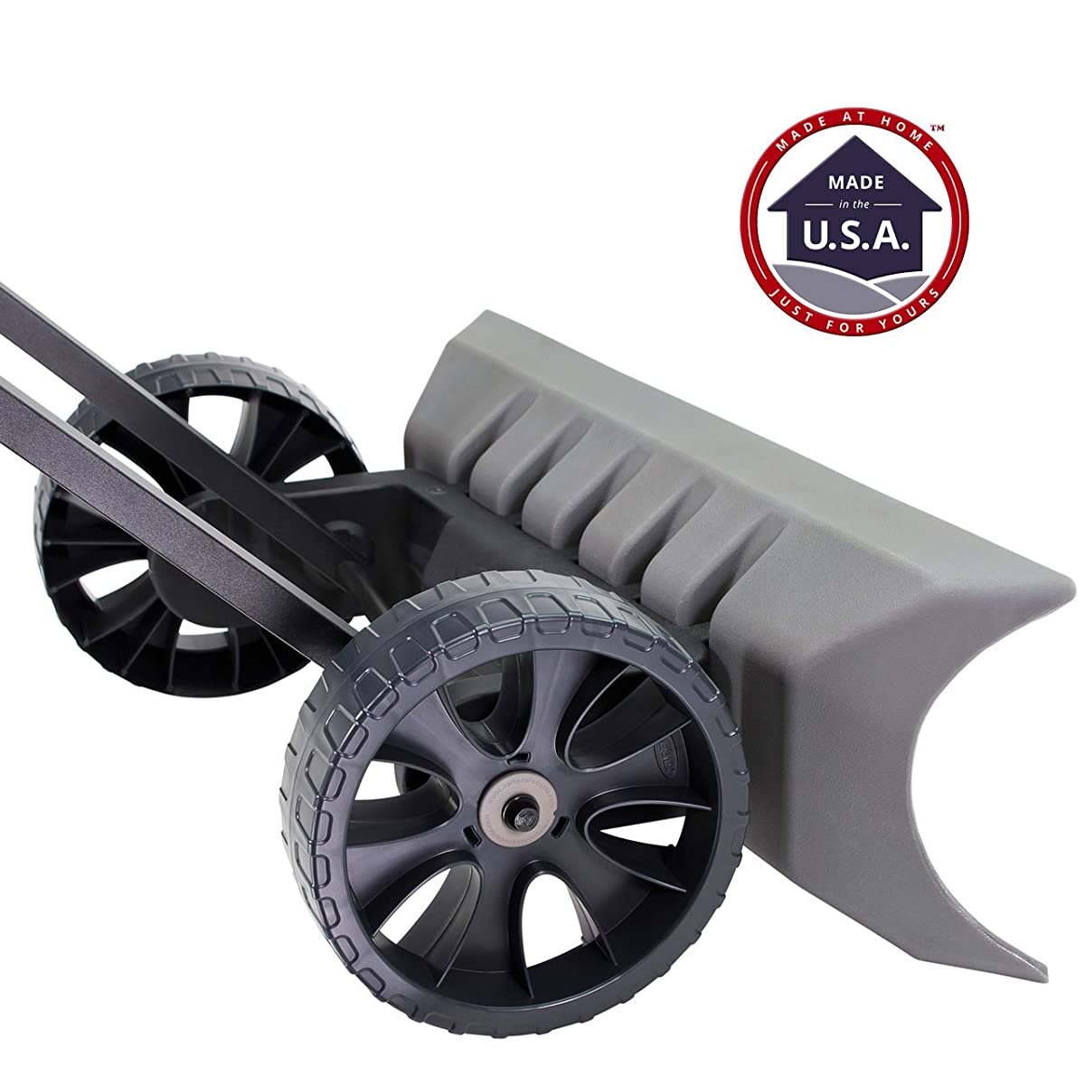 Power Dynamics Easy Leverage 30 Inch SnoDozer Rolling Snow Shovel on Wheels - Made in USA, Ergonomic Snow Clearing Push Plow for Driveways and Sidewalks