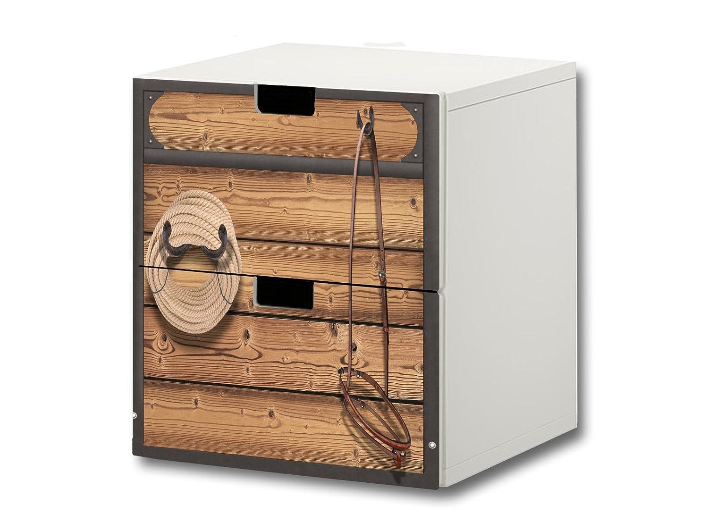 """""""Pferdewelt"""" Möbelsticker / Aufkleber – S2K23 – passend für die Kinderzimmer Kommode mit 2 Fächern / Schubladen STUVA von IKEA – Bestehend aus 2 passgenauen Möbelfolien (Möbel nicht inklusive) jetzt kaufen"""