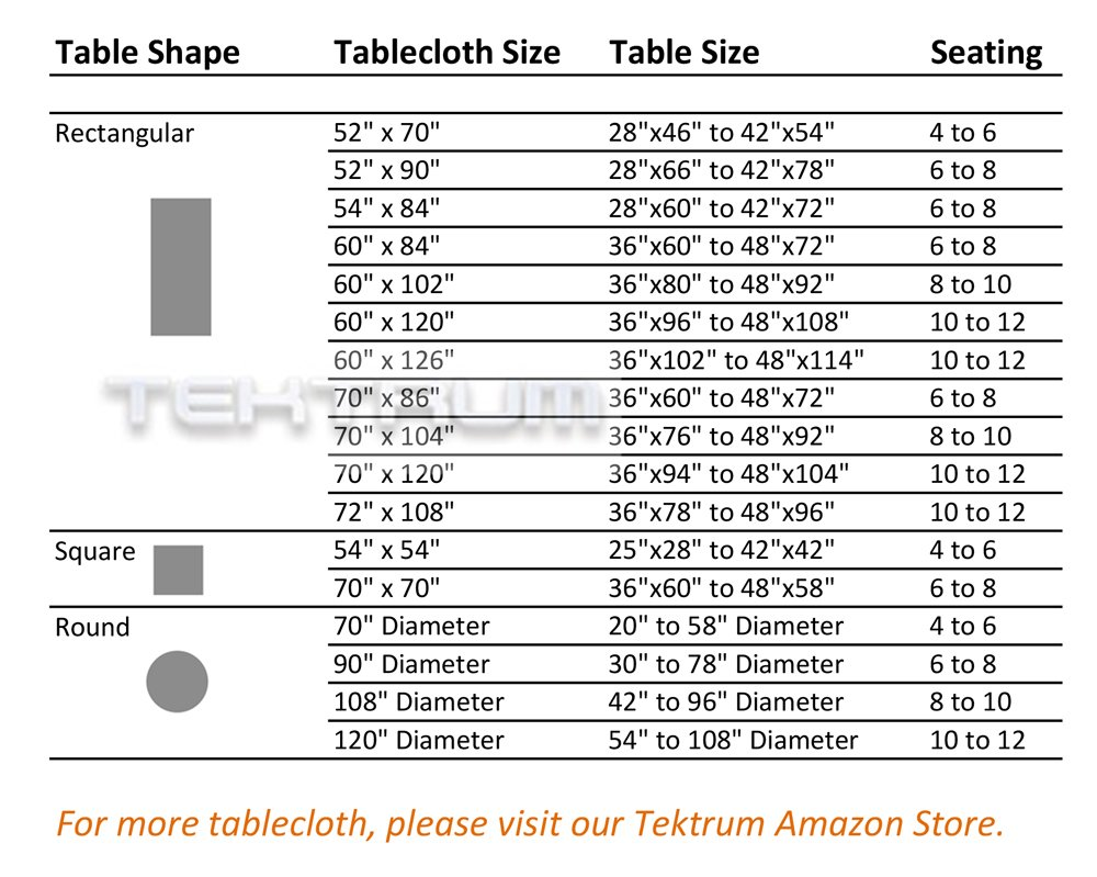 """TEKTRUM 70 X 70 INCH 70""""X70"""" SQUARE POLYESTER TABLECLOTH - THICK/HEAVY DUTY/DURABLE FABRIC (Burgundy)"""