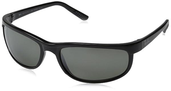 Ray Ban sunglasses RB2027 PRE (Color: 601/W1 Black (Crystal Gray Mirror Polarized Lens), Tamaño: 63 mm)
