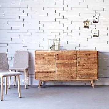 Bufé madera maciza acacia 150cm diseño escandinavo nuevo Tikamoon