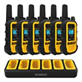 DEWALT DXFRS300 1W Walkie Talkies Heavy Duty Business Two-Way Radios (6 Pack) with Gang Charger