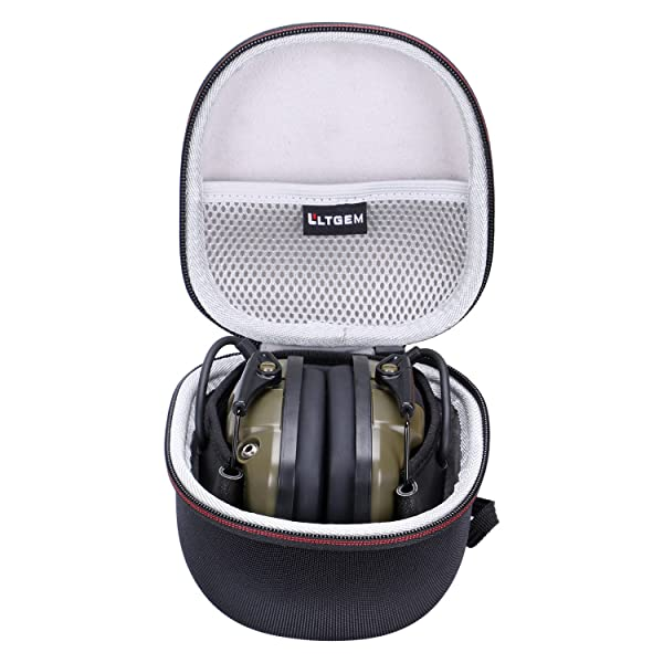 LTGEM for Howard Leight Impact Sport OD and Awesafe GF01 Electric Safety Earmuff Case , Carrying Travel Storage Bag with Mesh Pocket for Accessories (Color: US006-1)