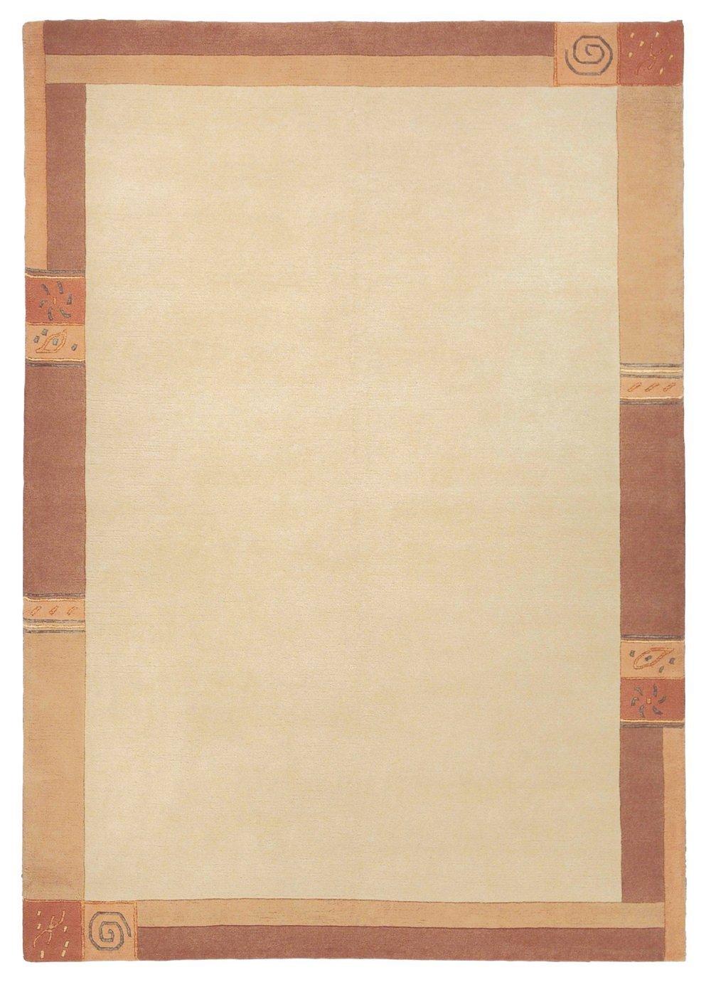 """Sona-Lux Nepal Teppich handgeknüpft vanilla """"Größe auswählen"""" 250 x 300 cm"""