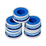 Everflow 811-5 PTFE Thread Seal Tape for Plumbers, White 1/2 Inch x 520 Inch (Pack of 5 Rolls) (Color: White, Tamaño: 1/2)