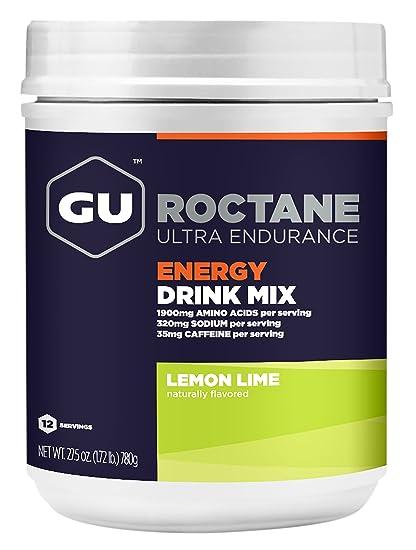 GU Roctane Ultra Endurance Energy Drink, Lemon Lime (Zitrone-Limette) - Kohlenhydrat-Electrolyte-Getränkepulver, 780 g Dose