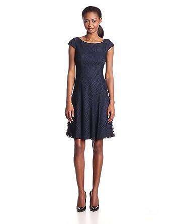 Anne Klein Women's Crochet Tennis Dress, Midnight, 10