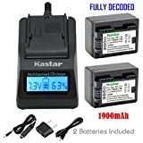 Kastar Fast Charger and Battery 2x for Canon BP-727 BP-718 BP-709 and VIXIA HF M50, HF M52, HF M500, HF R30, HF R32, HF R40, HF R42, HF R50, HF R52, HF R60, HF R62, HF R300, HF R400, HF R500, HF R600 (Color: 13 (COMBO: 2 BATTERIES + 1 ULTRA FAST CHARGER KIT))