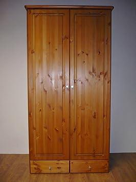 Kleiderschrank Schrank nordische Kiefer massiv honigfarben gebeizt lackiert
