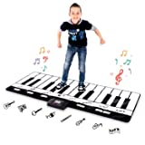 Abco Tech Giant Piano Mat - Jumbo Floor Keyboard with Play, Record, Playback and Demo Modes - 8 Different Musical Instruments Sound Options - 70in Play Mat - 24 Keys