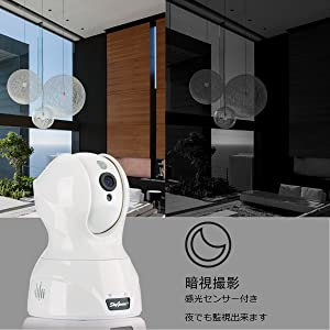 skygenius ワイヤレス防犯カメラ 200万画素 ペット用 首振り 内蔵マイク&スピーカー 双方向音声 遠隔制御可