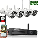 ?2018 update? HD 1080P 8-Channel OOSSXX Wireless System/IP Security Camera System 4Pcs 960P(1.3 Megapixel) Wireless Indoor/Outdoor IR Bullet IP Cameras,P2P,App, HDMI Cord & 1TB HDD Pre-install (Color: HD 8 Channel 1080P System+ 4Pcs 960P Cameras + 1TB HDD)
