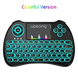 UpGoing Mini Wireless Keyboard, Backlit Keybaord with Touchpad Mouse Combo USB 2.4GHz Colorful for PC,Smart TV,Google Android TV Box,HTPC,IPTV,Raspberry pi 3,Pad and More USB Port Device (Color: H9)
