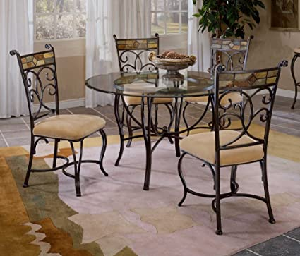 Slate Mosaic Dinette Set with Four Dining Chairs