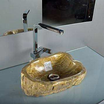 wohnfreuden fossiles waschbecken braun ca 43x31x14 cm dc656. Black Bedroom Furniture Sets. Home Design Ideas