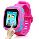 Game Smart Watch Of Kids, Girls Watch With Game,Kids Smartwatch With Game Wrist Watch Education Toys Boys Girls Gifts (Pink Joint blue) (Color: Pink Joint Blue)