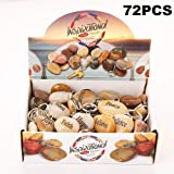 72PCS RockImpact Inspirational Stones Key Chains, Wholesale Lot, Engraved Natural River Rock Key Rings Keychains, Healing Stone Keychain Bulk Lot, Different Words Assorted Sayings (72 Pieces) (Color: 72pcs, Tamaño: 72)