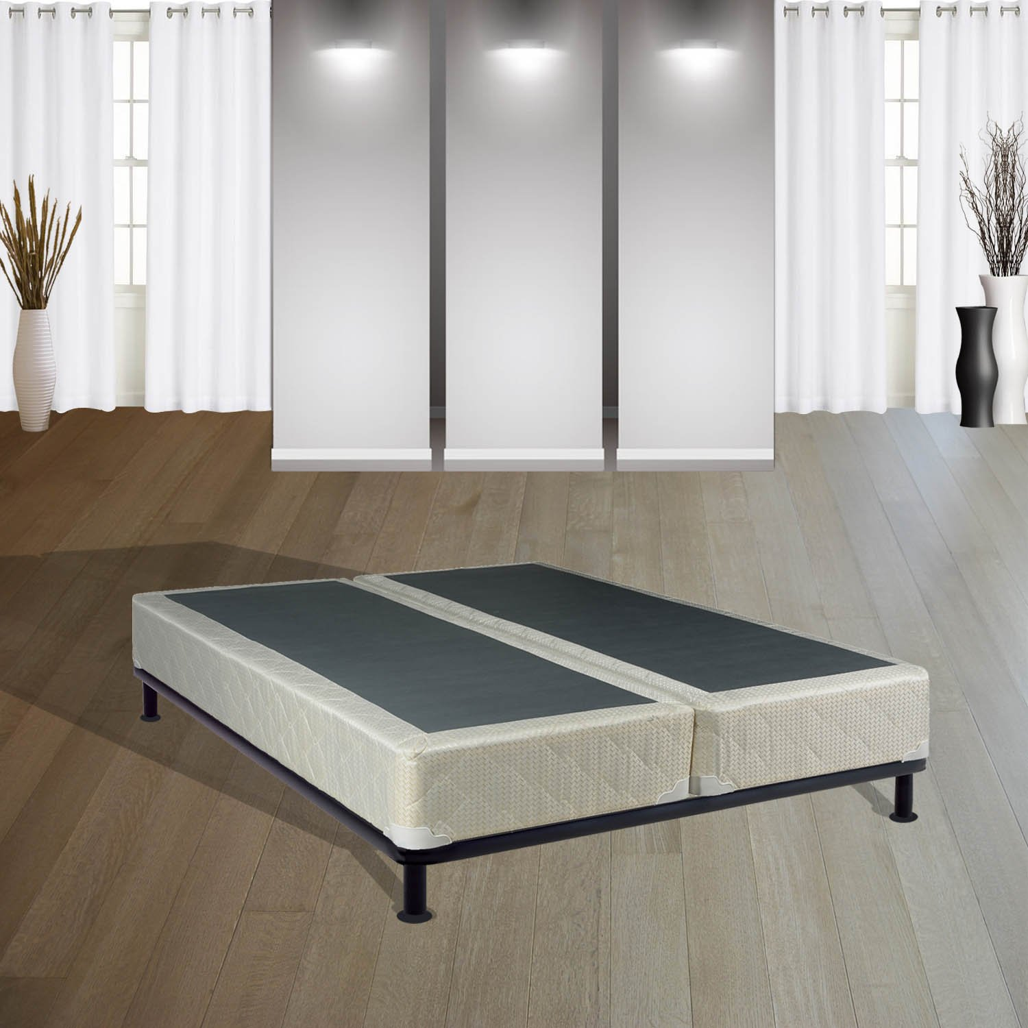 continental sleep 8 inch queen size fully assembled split box springs for ma ebay. Black Bedroom Furniture Sets. Home Design Ideas