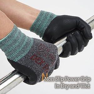 DEX FIT Lightweight Nitrile Work Gloves FN330, 3D Comfort Stretch Fit, Durable Power Grip Foam Coated, Smart Touch, Thin Machine Washable, Black Grey Medium 12 Pairs Pack (Color: FN330 Black Grey 12PR, Tamaño: Medium)