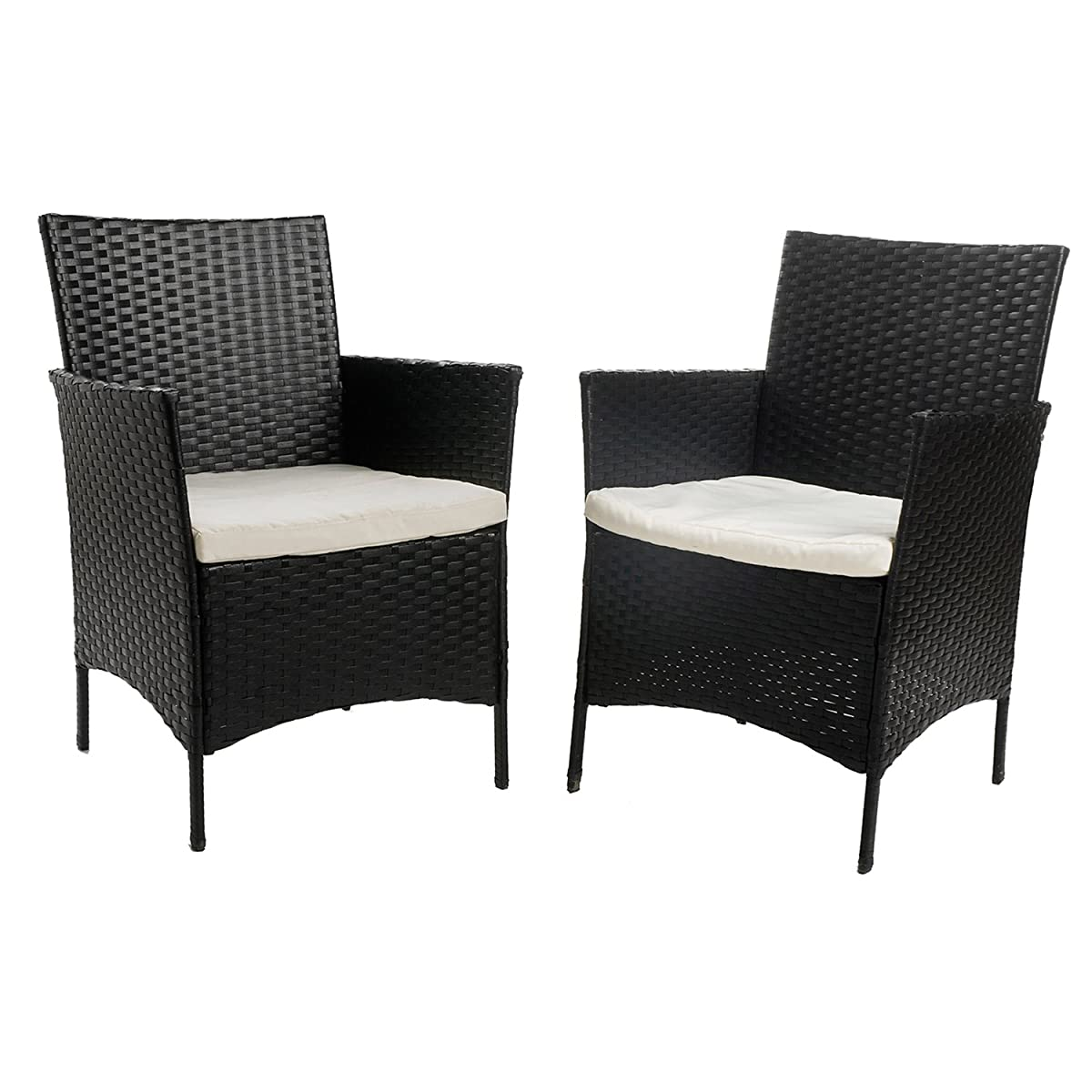 Merax 4-piece Outdoor PE Rattan Wicker Sofa and Chairs Set Rattan Patio Garden Furniture Set