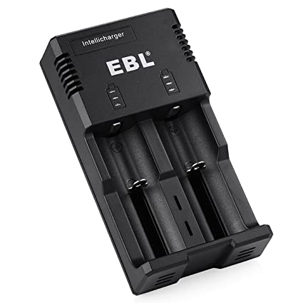 EBL Smart Battery Charger for 18650 AA AAA & C Size Li-ion Ni-MH Ni-CD Rechargeable Battery with iQuick Technology