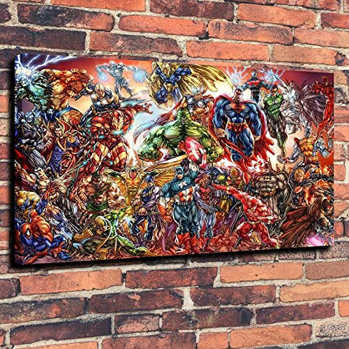 dc-universe-and-marvel-comics-print-oil-painting-on-canvas-wall-art-picture-home-decoration