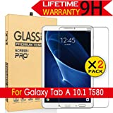 Galaxy Tab A 10.1 Glass Screen Protector,[2Pack] AnoKe[Case Friendly](0.3mm 9H) Tempered Glass Screen Protector Film Sheild for Samsung Galaxy Tab A 10.1,T580 / T585 Glass -2Pack (Color: Galaxy Tab A 10.1 T580 2PCS)