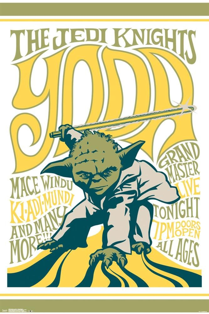 Star Wars- Grand Master Yoda Poster 24 x 36in 0