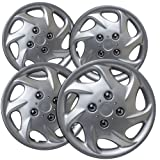 OxGord Hubcaps for TOYOTA Corolla (Pack of 4) Wheel Covers - 14 inch, Snap On, Silver (Color: Silver, Tamaño: 14